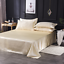 Satin-Silk-Flat-Bed-Sheet-with-Deep-Pocket-Twin-Full-Queen-King-Soft-amp-Smooth thumbnail 7