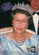 Queen Elizabeth II Wearing Glasses --- Royal Family Trading Card, Not a Postcard