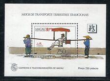Macao 559, MNH.Traditional Transportation 1987 SCV-$57.50.  x16091
