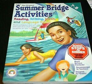 Summer Bridge Activities Grades 7-8 Book Math English ...