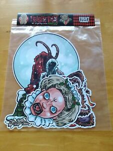Frightville Novelties Krampus Double-sided Die Cut Decorations - Set of 7