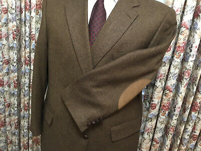 Austin Reed London Muted Tweed Elbow Patch Sport Coat Jacket Blazer Men S 52r Ebay
