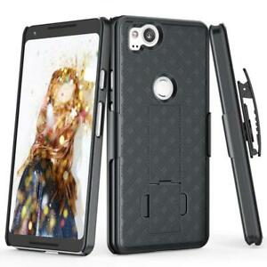 CASE-COMBO-SWIVEL-BELT-CLIP-HOLSTER-COVER-W-KICKSTAND-W8O-for-Pixel-2-Phones