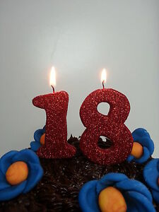 Image Is Loading 18th Birthday Candles Number Birthay Cake