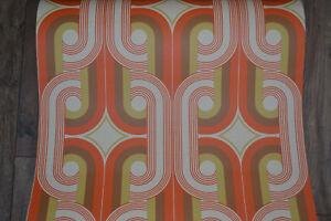 Details zu Tapete im Retro Look - Style Tapeten 70er Jahre Motiv  Papiertapete