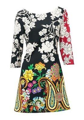 Druckkleid neu Kleid 15/% Elasthan Gr.42 85/% Polyester Desigual