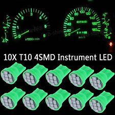 10x Green LED 194 Wedge Speedo Dash Gauge Instrument Panel Light Bulb For Toyota