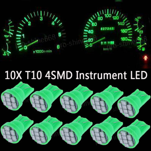 10x Green LED 194 Wedge Speedo Dash Gauge Instrument Panel Light Bulb For Dodge