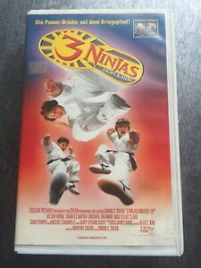 3-Ninjas-Fight-amp-FURY-RCA-Columbia-VHS-Kassette-Rar