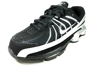 Nike-Shox-Turbo-VII-PS-325226-141-Boys-Shoes-Running-Black-White-Leather-Mesh