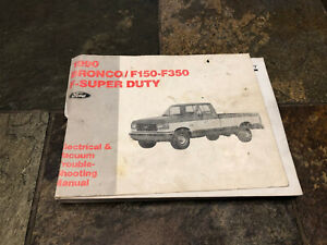 1990 Ford F 150 F 250 F 350 Bronco Wiring Diagrams Electrical Service Manual Ebay