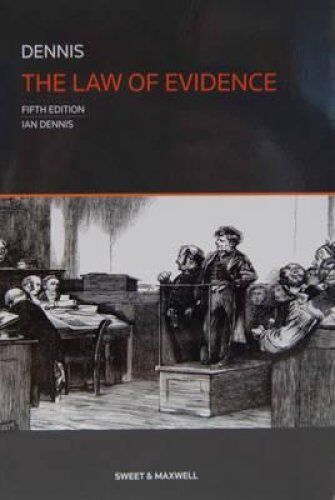 1 of 1 - The Law of Evidence by Professor Ian Dennis 9780414025622 (Paperback, 2013)