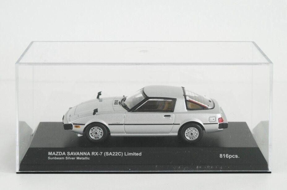 Kyosho 1 43 Mazda Savanna RX-7 SA22C Limited 1979 SUNBEAM Argent Métallisé