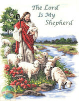 Cross Stitch Kit Dimensions The Lord Is My Shepherd Jesus & Lambs 3222