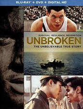 Unbroken (Blu-ray/DVD, 2015, 2-Disc Set, Includes Digital Copy UltraViolet)