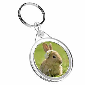 1-x-Baby-Bunny-Rabbit-Flowers-Keyring-IR02-Mum-Dad-Kids-Birthday-Gift-15575