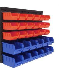 8 pcs Tool board SET wall Sight storage bins 40x40cm Hole shelves Workshop