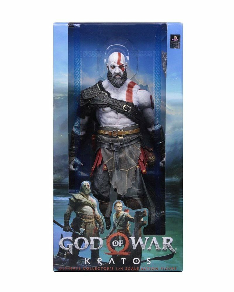God of War 2018 50cm 18inch Scale Kratos 1/4 Sony Videogame Action Figure NECA
