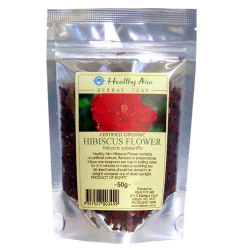 Certified Organic HIBISCUS FLOWERS ~ 50g HERBAL TEA Premium ~ Dried Herbs