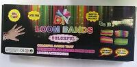 Diy Loom Bands Bracelet Making Kit Includes 600 Rainbow Rubber Bands Loom Clips