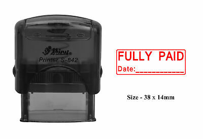 Printtoo Cash Self Inking Rubber Stamp Office Stationery Custom Shiny Stamp