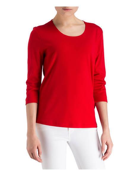 Efixelle Maglietta con 3 4 braccio, scollo rotondo, colore rosso, dimensioni 40