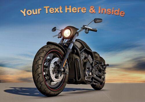 PERSONALISED HARLEY DAVIDSON MOTOR BIKE BIRTHDAY FATHERS DAY etc CARD