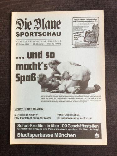 ESV Ingolstadt 27.08.1985 Bayernliga 85/86 TSV 1860 München