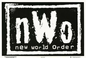 Poster Wrestling Nwo Logo Black White Blacklight Flocked 1773f Rc13 E Ebay