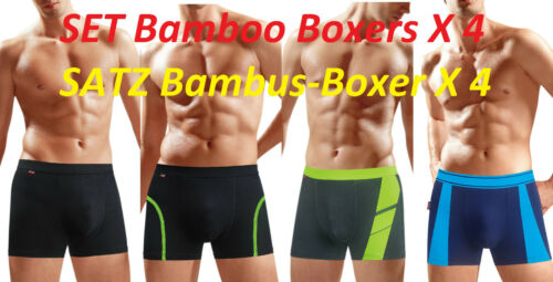 New Set 4er Piece Mens Boxer Bamboo Bamboo Boxer Shorts Underwear Underwear