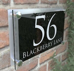 large contemporary house sign plaques door number 1 999 address