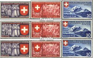 Schweiz-335-343-kompl-Ausgabe-gestempelt-1939-Landesausstellung