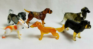 Russian-Hand-Blown-Art-Glass-Figurine-Puppy-Dogs-K9-Many-Breeds-You-Choose-1