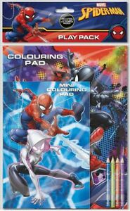 Spiderman Gioco Confezione Colorare Libro Matite Pad Set Attività Marvel SPPPK3