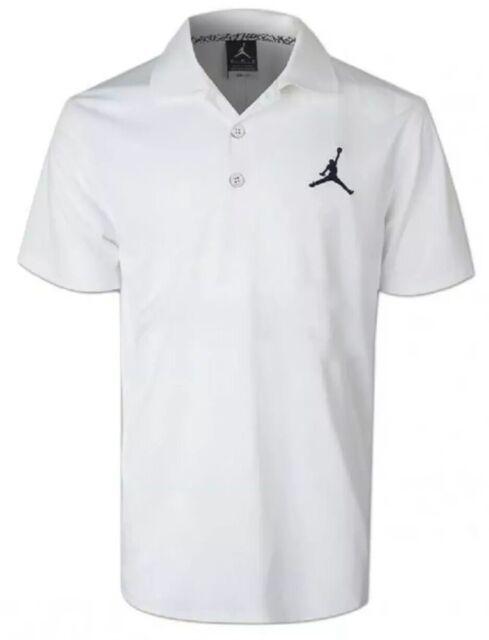 e892df03c0c Nike Jordan Jumpman Team Mens Polo Shirt Dri Fit White LARGE 865856-106 $55  NEW