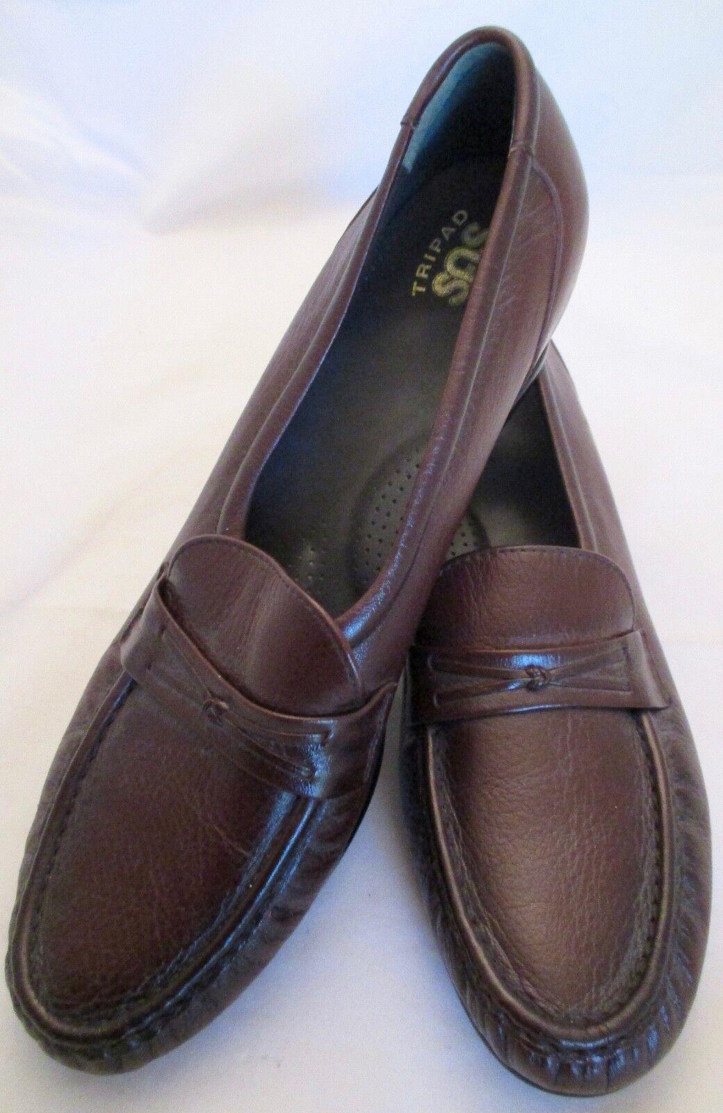 SAS Braun Slip-On Leder Tripad Comfort SZ Loafer Pebbled Damenschuhe Schuhe SZ Comfort 11 1/2 S c8ece6