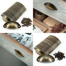24pcs Antique Retro Shell Kitchen Cupboard Door Cabinet Knob Drawer Pull Handle