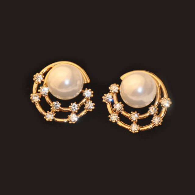 Fashion Crystal Pearl Stud Earrings Star Women Girl Accessories Earrings Jewelry