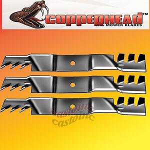 "Copperhead Commercial Heavy Duty Multch Blades 3 Blades  60/"" Cut 7-Iron Deck.USA"