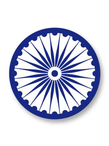 "Pin Button Badge Ø25mm 1/"" Symbole Ashoka Chakra Inde India"