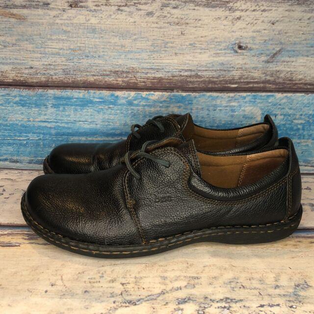 BOC Born Concept Women's Shoes Oxford Black Leather Lace Up Sz 10/42 C40403