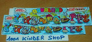 KINDER AQUALAND BPZ (D) 1997 GERMANY - LOT 2 VARIANTES qYmBRqZZ-09162759-494394398