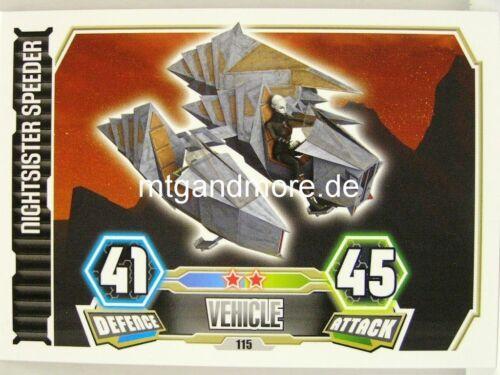 Force Attax série 3 Nightsister speeder #115