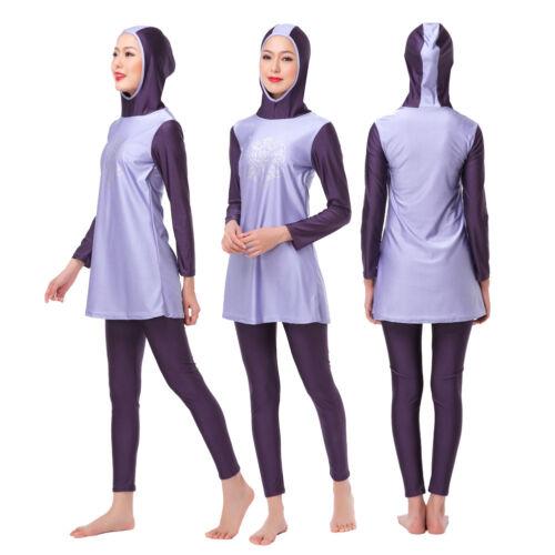 Modesty Muslim Swimwear Women Full Cover Islamic Swimsuit Arab Beach Burkini New
