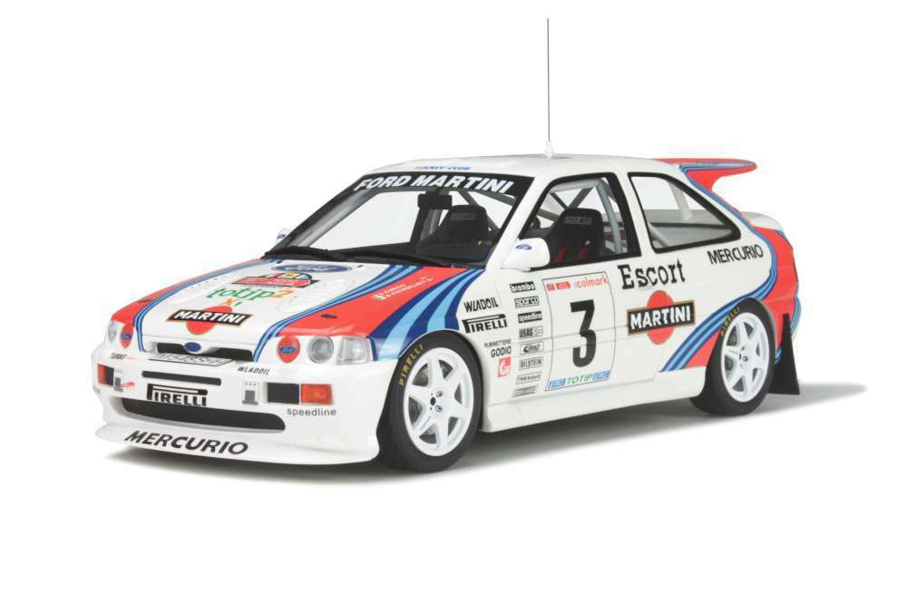 Otto mobile 204 ford escort rs cosworth modèle rallye voiture 1000 miglia 1995 1 18th