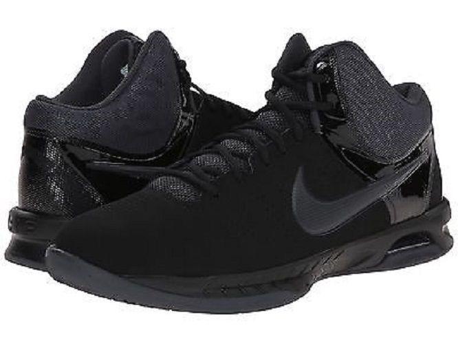 NIB Homme Nike VISI PRO VI NUBUCK BASKETBALL Chaussures 749168 003 BK/ANTHRACITE