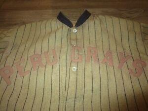Peru Grays 1919-1920s Indiana League Baseball Game Used Worn Jersey Uniform Hat
