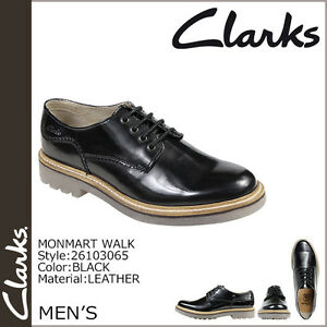 Monmart Mens 10 Uk Clarks Smart G Black Leather Walk dgnWqE40wq