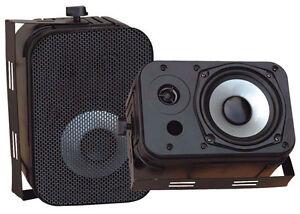 Pyle-Home-Audio-PDWR40B-New-5-25-034-Indoor-Outdoor-Waterproof-Speakers-Black