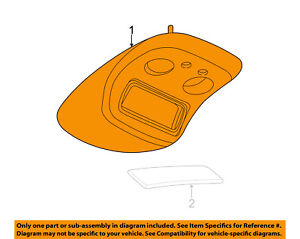 Gm Oem Overhead Roof Console Roof Console 15826743 Ebay